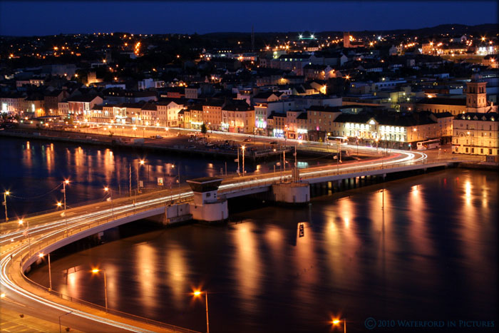 Waterford City night time shot