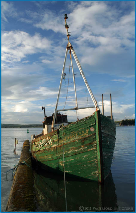 An old fishing trawler